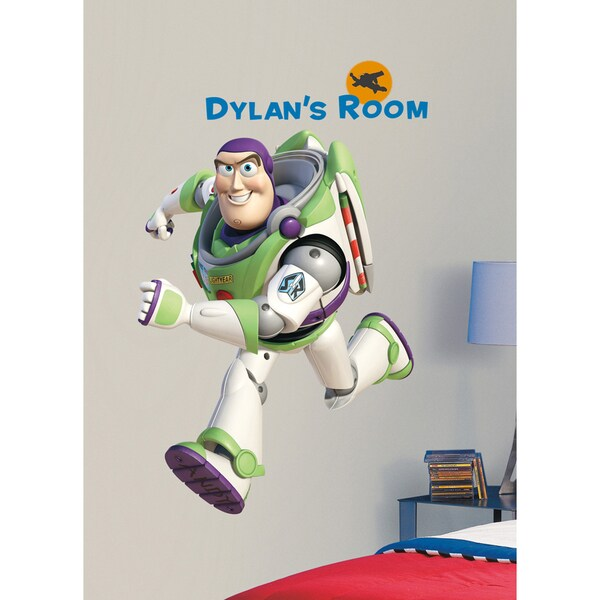 Toy Story Buzz Peel & Stick Giant Wall Decal w/Personalization