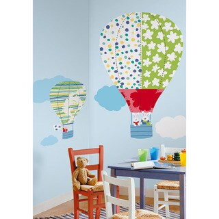 Hot Air Balloons Peel & Stick Giant Wall Decals