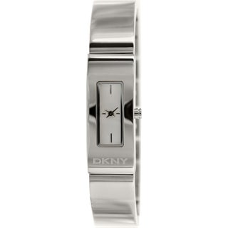 DKNY Women's NY8756 Stainless Steel Analog Quartz Watch with Silver Dial