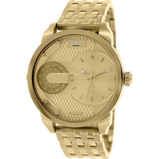 Diesel Men's Mini Daddy DZ7306 Goldtone Stainless Steel Analog Quartz Watch with Gold Dial