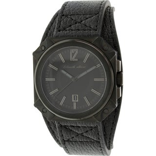 Black Dice Men's Graduate BD-070-02 Black Leather Analog Quartz Watch with Black Dial