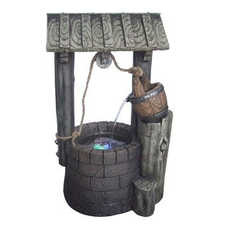 Yosemite Home Decor 12-inch Free Standing Limestone Rock Well Fountain