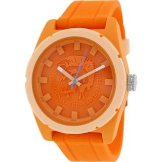 Diesel Men's Nsbb DZ1593 Orange Silicone Quartz Watch with Orange Dial