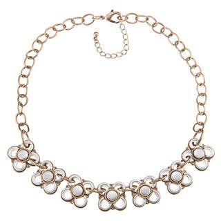 Alexa Starr Two-tone Flower Necklace