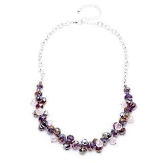 Alexa Starr Cystal Frontal Cluster Necklace
