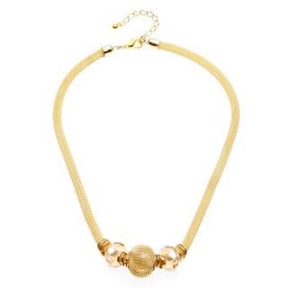 Alexa Starr Gold Mesh Slider Necklace