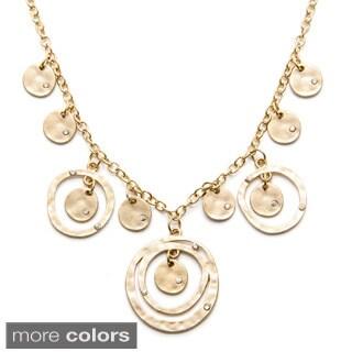 Alexa Starr Hammered Ring Frontal Bib Necklace