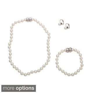 Alexa Starr Magnetic Necklace Bracelet and Earring Pierced or Clip-on Jewelry Set