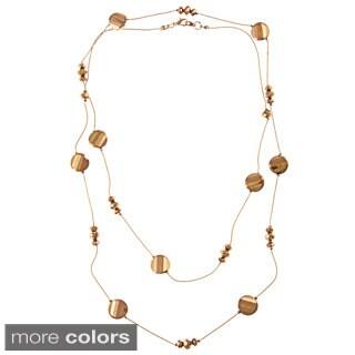 Alexa Starr Long Metallic Bronze Chip Necklace