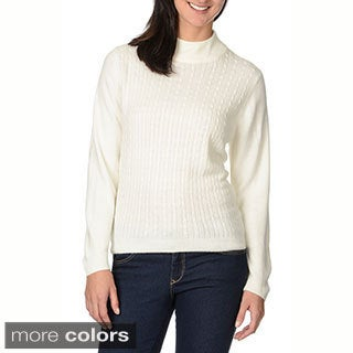 Pierri Women's Cabled Turtleneck Sweater