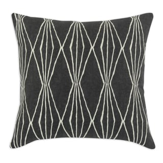 Handcut Shapes Charcoal 17-inch Throw Pillow