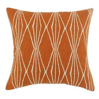 Handcut Shapes Orange Crush 17-inch Throw Pillow