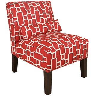 Made to Order Upholstered Armless Chair with Lumbar Pillow