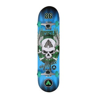 Airwalk Undone Series Skateboard- Blue Skull