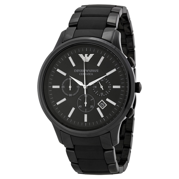 Emporio Armani Men's Ceramica AR1451 Black Ceramic Quartz Watch with Black Dial