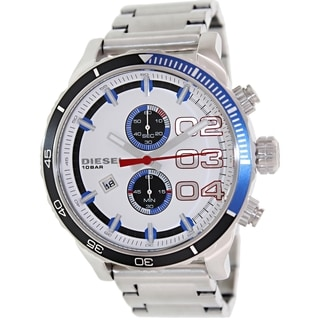 Diesel Men's Double Down 48 DZ4313 Stainless Steel Quartz Watch with White Dial