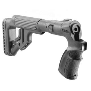 Tactical Folding Buttstock with Cheek Riser for Mossberg 500/ 590 Shotgun
