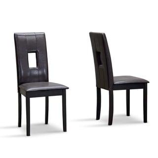 Baxton Studio Modern Wood H Bellar Chairs (Set of 2)