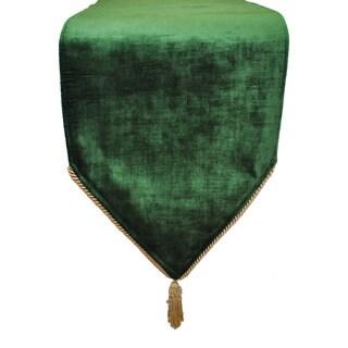 Sherry Kline Flemish Forest Green Velvet Luxury Table Runner