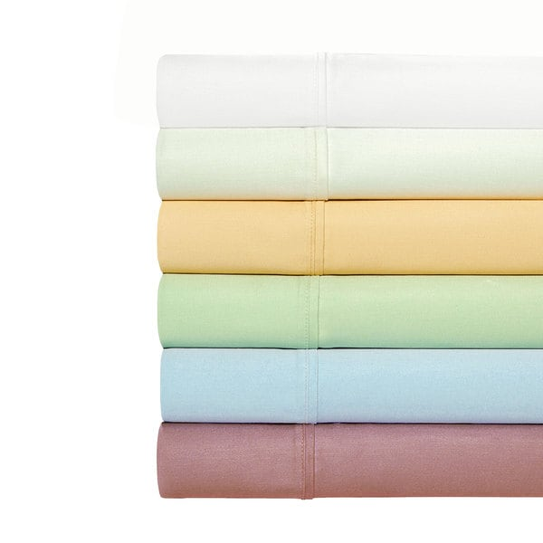 Egyptian Cotton Blend 1000 Thread Count Solid Colored Sheet Set