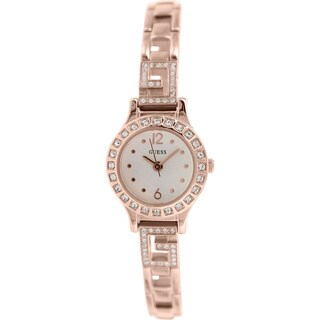 Guess Women's U0411L3 Rose Goldtone Stainless Steel Quartz Watch with White Dial