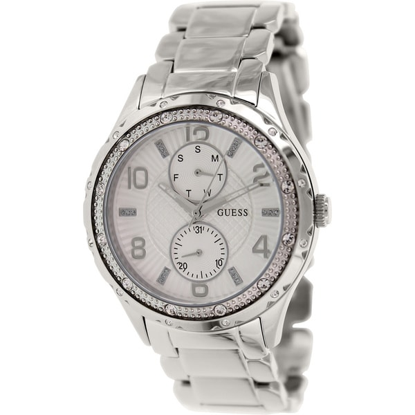 Guess Women's U0442L1 Stainless Steel Quartz Watch with White Dial