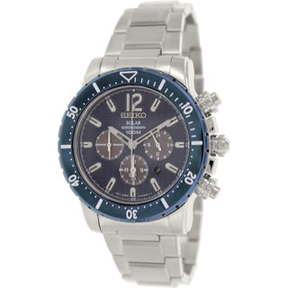 Seiko Men's SSC247 Stainless Steel Quartz Watch with Blue Dial