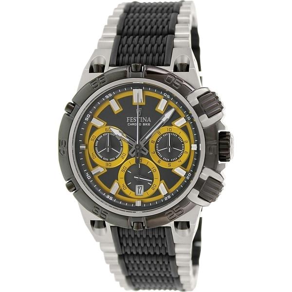 Festina Men's Chrono Bike F16775/7 Two-tone Stainless Steel Quartz Watch with Black Dial