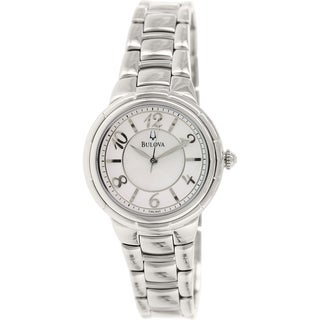 Bulova Women's Diamond 96L169 Stainless Steel Quartz Watch with Mother of Pearl Dial