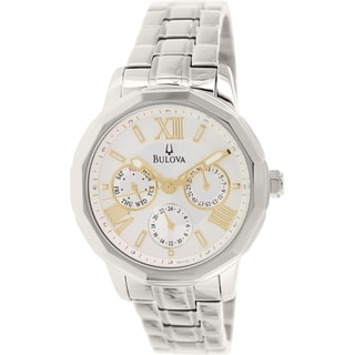 Bulova Women's Sport 96N103 Stainless Steel Quartz Watch with Silver Dial