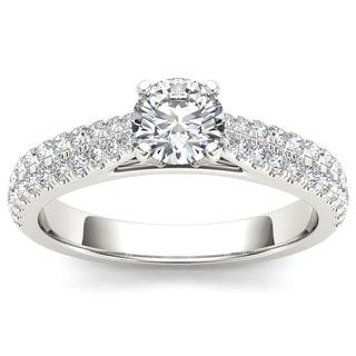 De Couer 14k White Gold 1 1/5ct TDW Diamond Engagement Ring (H-I, I2)