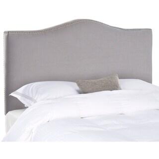 Safavieh Jeneve Arctic Grey Upholstered Headboard - Silver Nailhead (King)