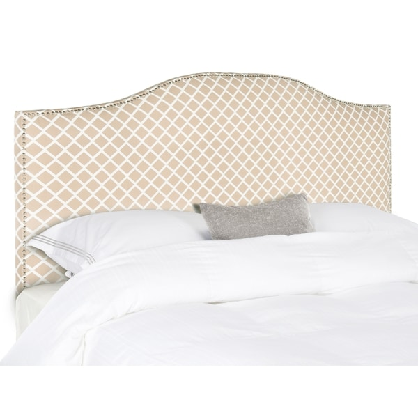Safavieh Connie Peach Pink/ White Headboard (King)