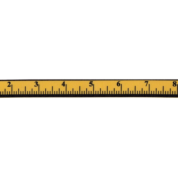"Measure Up Ribbon 5/8""X9'-Yellow Gold"