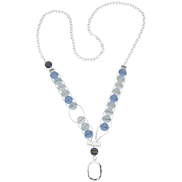 "Counting Necklace 39""-Winter Ice"