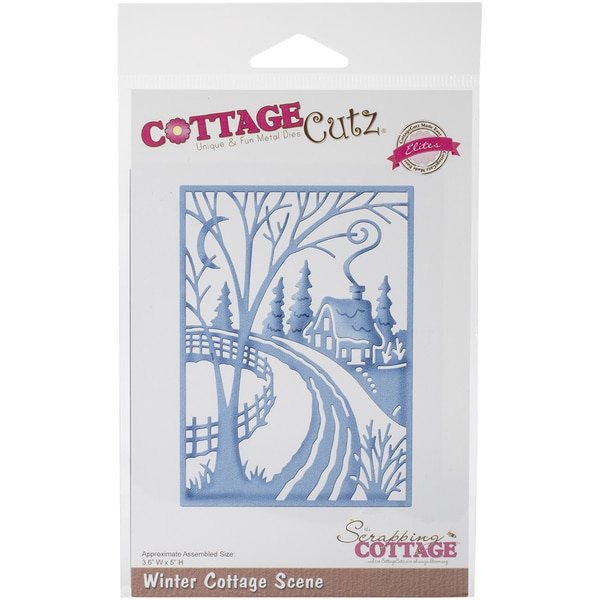 CottageCutz Elites Die -Winter Cottage Scene