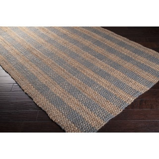 Hand-Woven Lillie Jute Stripe Area Rug (5' x 8')