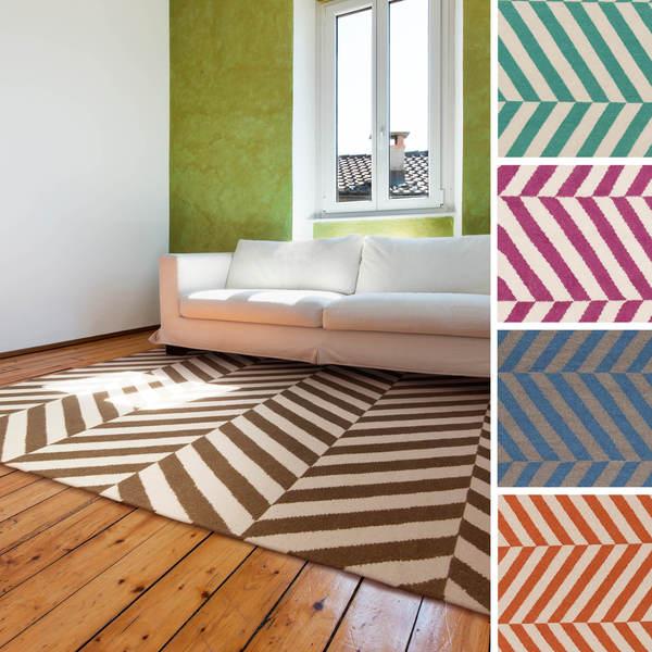 Flatweave Lugano Striped Wool Rug (3'6 x 5'6)