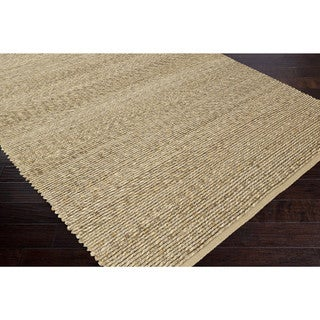 Hand-Woven Beatrice Jute Solid Area Rug (3'6 x 5'6)
