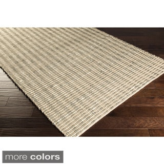 Hand-Woven Iliana Jute Striped Area Rug (8' x 11')