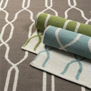 Hand-woven Thelma Wool Geometric Area Rug (2' x 3')