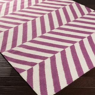 Flatweave Chemlsford Wool Striped Rug (2' x 3')