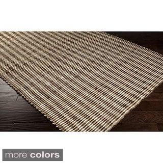 Hand-Woven Iliana Jute Striped Area Rug (10' x 14')