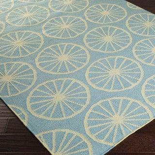 Hand-woven Carlotta Flatweave Wool Rug (5' x 8')