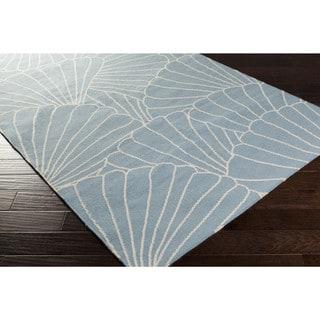 Hand-woven Phan Flatweave Wool Rug (5' x 8')