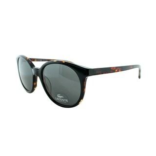 Lacoste Unisex LA 601 001 Black Oval Sunglasses