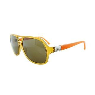 Lacoste Men's LA 502 253 Yellow Orange Aviator Sunglasses