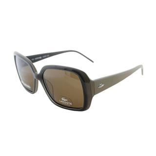 Lacoste Women's LA 623P 045 Polarized Square Sunglasses