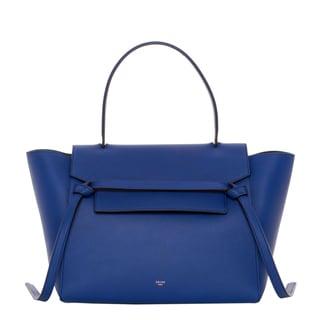 Celine Small Blue Textured Leather Belt Bag