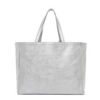 Saint Laurent Reversible Metallic Leather and Canvas Tote